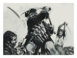 Blackbeard Giclee Print by Graham Coton
