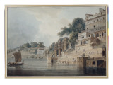 Dasasvamedha Ghat, Benares Giclee Print by Thomas Daniell