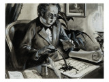 Portrait of Franz Schubert Giclee Print by Andrew Howat