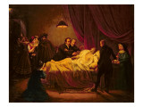 The Death of Mazet, 1821 Giclee Print by Henri Serrur