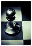 Black and White Chess IV Poster by Jean-François Dupuis