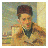 Self Portrait, 1908 Giclee Print by Umberto Boccioni