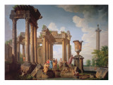Classical Scene Giclee Print by Giovanni Paolo Pannini