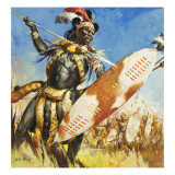 Zulu Warrior Giclee Print by  McConnell