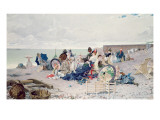 Beach at Yport, 1878 Giclee Print by Edouard Toudouze