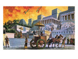 The Great City of Nineveh Premium Giclee Print by Ruggero Giovannini