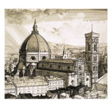 View of Florence Giclee Print by  English School
