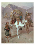 The Queen of the Caravan Premium Giclee Print by Joseph-Austin Benwell