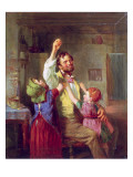 The Struggle for the Apple Giclee Print by William Henry Knight