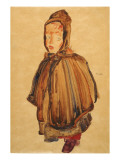 Woman with Bonnet Giclee-vedos tekijänä Schiele