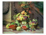 Baskets of Summer Fruits Giclee Print by William Hammer