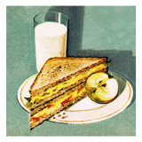 Sandwich Giclee Print by English School