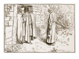 Owini at the Monastery Giclee Print by F.h. Townsend