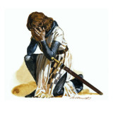 Knight Lamenting Giclee Print by Andrew Howat