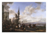Departure for the Hunt Giclee Print by Philips Wouwermans Or Wouwerman