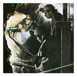 Digging a Tunnel Giclee Print by English School