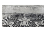 The Tuileries Garden Giclee Print by Israel, The Younger Silvestre