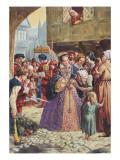 Mary Tudor Premium Giclee Print by C.l. Doughty