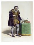 Michel Eyquem De Montaigne Premium Giclee Print by H. Dupont