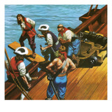 Walking the Plank Giclee Print by Ron Embleton