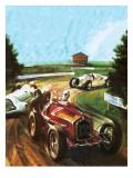 Tazio Nuvolari Giclee Print by Graham Coton