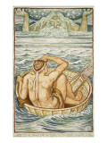 Hercules and Atlas Premium Giclee Print by Walter Crane