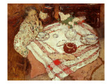 Breakfast, C.1902 Reproduction proc&#233;d&#233; gicl&#233;e par Edouard Vuillard