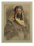 Study of an Arab Sheikh Giclee Print by John Frederick Lewis