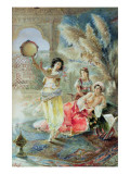 The Tambourine Giclee Print by E. Raggi