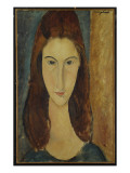 Jeanne Hebuterne, 1917-18 Premium Giclee Print by Amedeo Modigliani