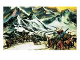 Hannibal Crossing the Alps Giclee Print by Ron Embleton