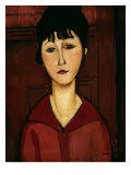 Head of a Young Girl, 1916 Premium Giclee Print by Amedeo Modigliani