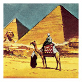 Egyptian Pyramids Giclee Print by English School