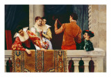 On the Balcony Giclee Print by Eugen Von Blaas