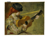 Girl with a Guitar, 1897 Giclee Print by Pierre-Auguste Renoir