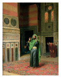 In the Mosque Lmina gicle por Ludwig Deutsch