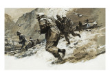 Nazi Commando Raid Giclee Print by Neville Dear