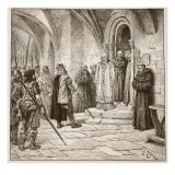 Swein Demanding Ransom Giclee Print by Edouard Zier