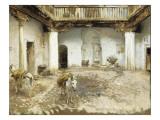 Moorish Courtyard, 1913 Giclee Print by John Singer Sargent