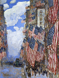 The Fourth of July, 1916 Giclee Print by Childe Hassam