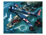 Battle of Midway Premium Giclee Print by Wilf Hardy