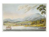 View of Hobart Town, 1824 Giclee Print by Joseph Lycett