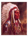 Indian Chief Giclee Print by Frank Humphris