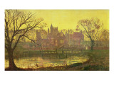 The Moated Grange Premium Giclee Print by  Grimshaw