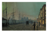 Humber Dockside, 1881 Giclee Print by  Grimshaw