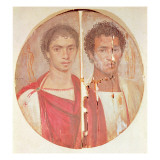 Portrait of Two Brothers Giclee Print by Roman Period Egyptian