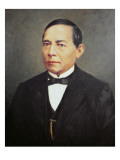 Portrait of Benito Juarez Giclee Print by  Mexican School
