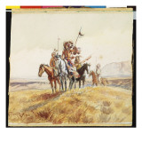 Indian War Party, 1902 Giclee Print by Russell