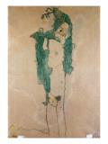 Self Portrait, C.1910 Premium Giclee Print by Egon Schiele