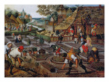 Gardening, C.1637-38 Reproduction giclée Premium par Pieter Brueghel the Younger